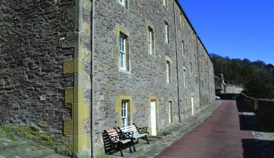 ee Row Hostel at New Lanark visitors centre in the scottish borders