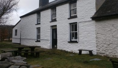 Dolgoch Hostel in the Elenydd wilderness of the Cambrian Mountains