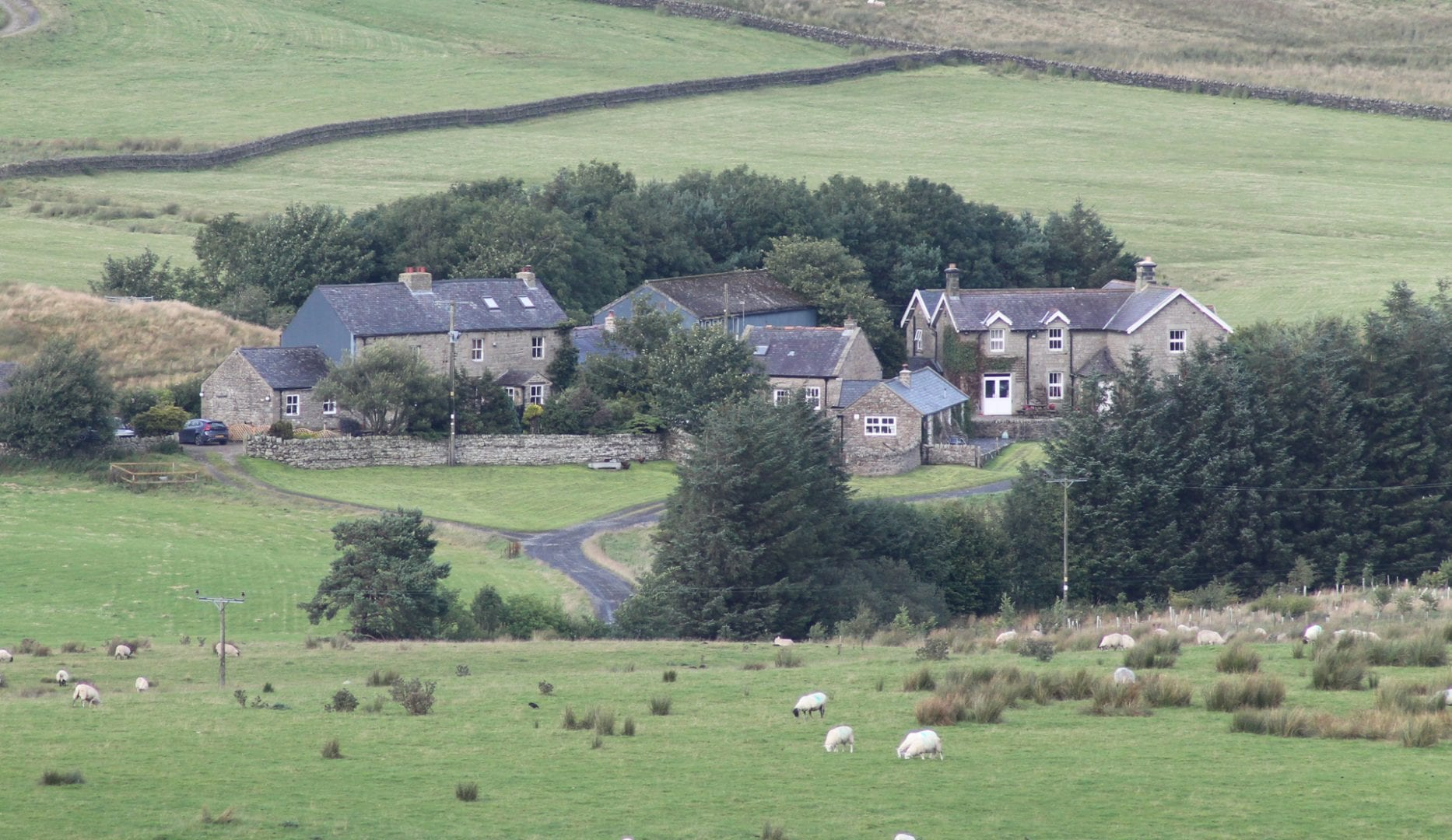 Gibbs Hill Farm Bunkhouse on Hadrians wall in Northumberland