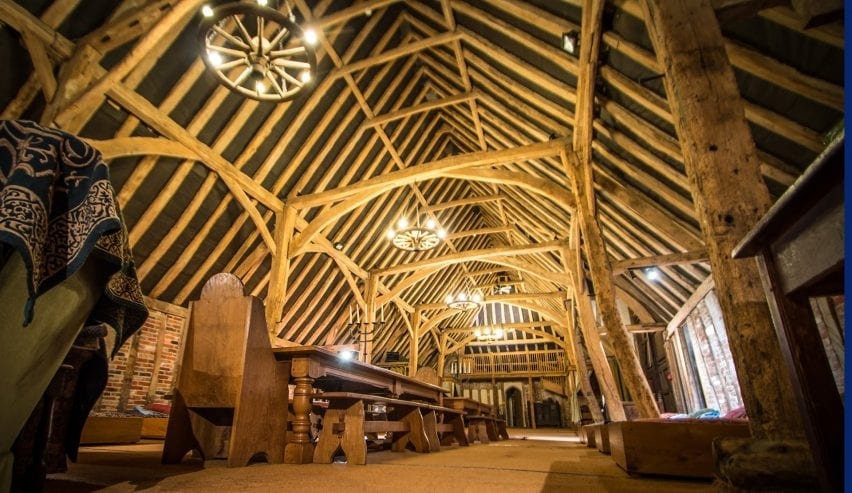 Historic Tudor Barn Hostel at Milden Hall, nr Lavenham, Suffolk