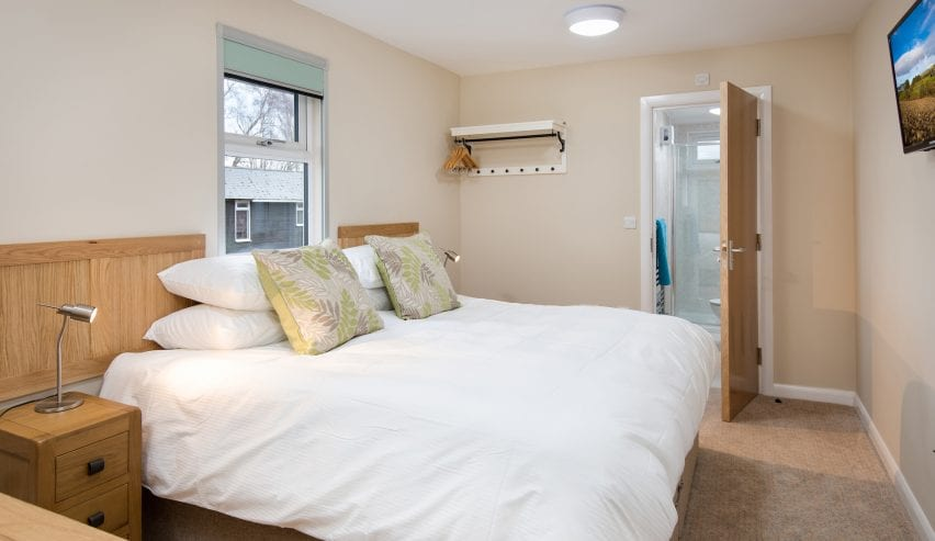 Luxury hostel room at Brown Rigg near Bellingham in Northumberland National Park
