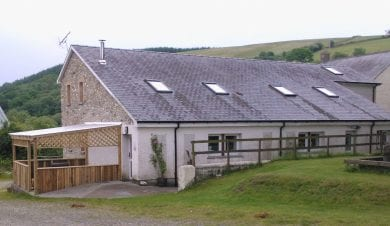 gilfach wen barn group accommodation in Brechfa Forrest