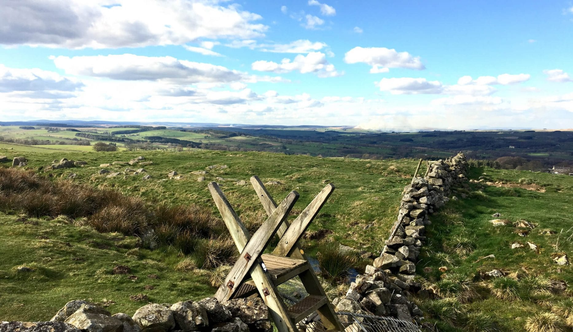 Hadrians Wall Path close to Houghton North Accommodation