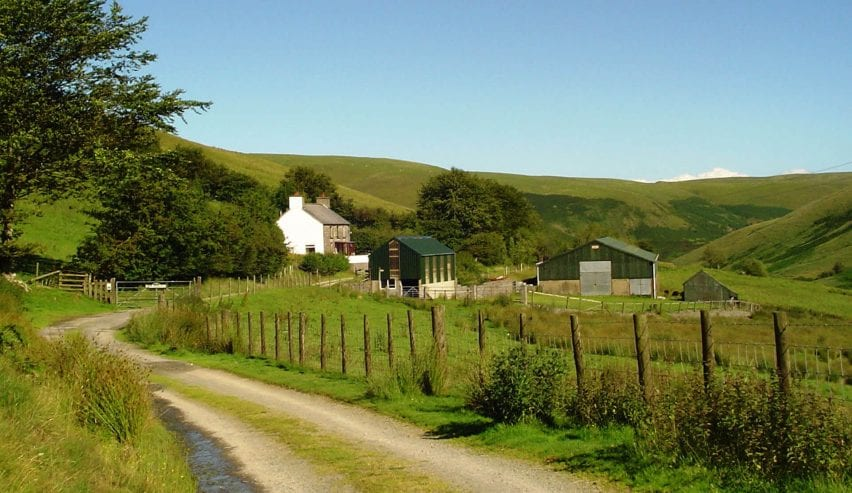 tyn cornel hostel in the Cambrian Mountains
