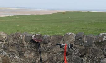 Cycling near Seahouses