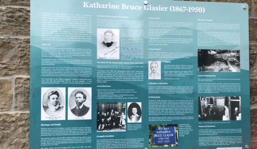 katherine bruce glasier donated earby hostel to the yha