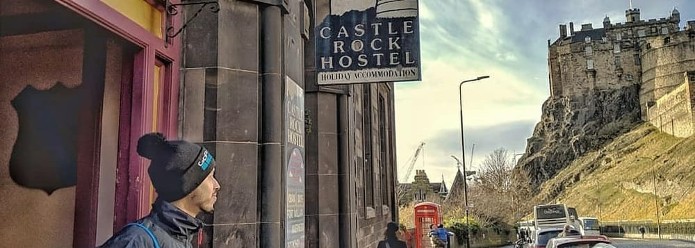 Castle Rock Hostel dwon the road form Edinburgh Castle