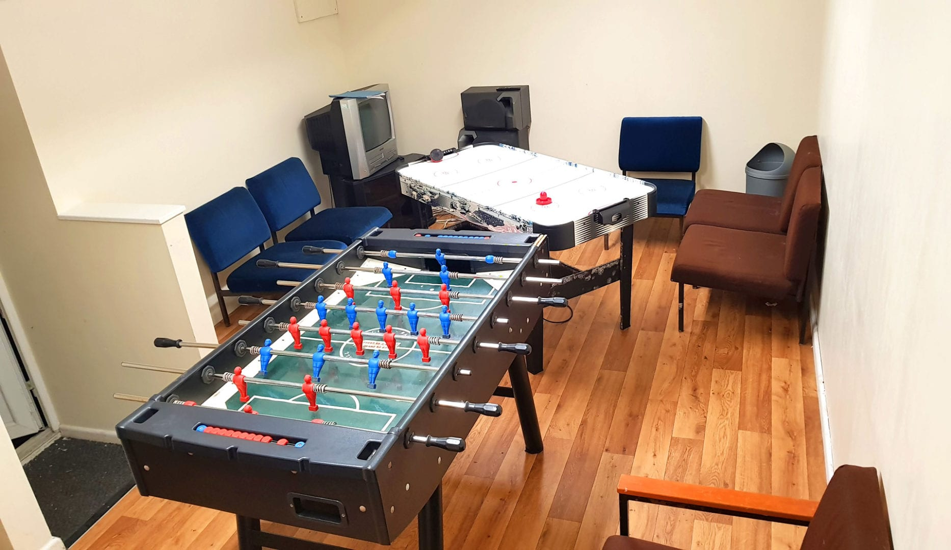 Games room at Woodlands Centre - north Wales