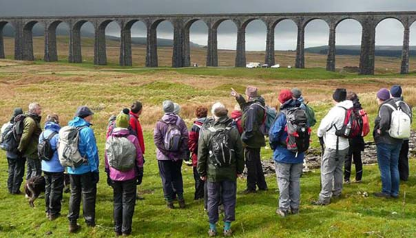 ride2stride walking festival at Ribblehead Viaduct