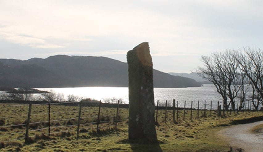 Standing stone at Ross of Mull Bunkrooms, Isle of Mull