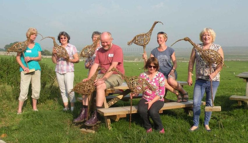 Willow weaving workshop at Broadrake Bunkbarn near Ribblehead