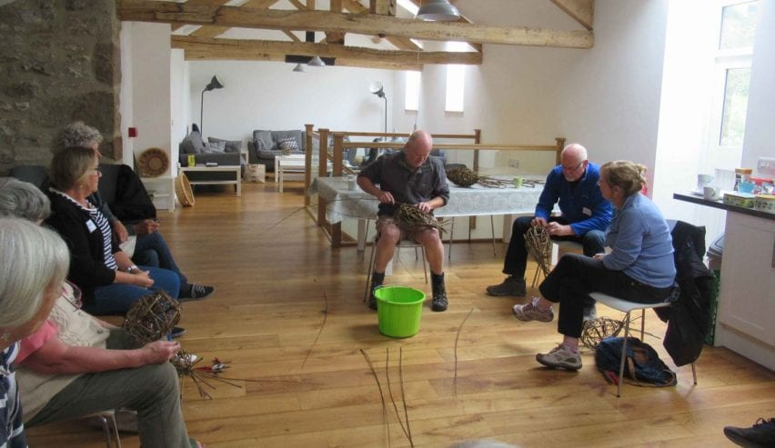 A workshop at Broadrake Bunkbarn near Ribblehead Yorkshire Dales