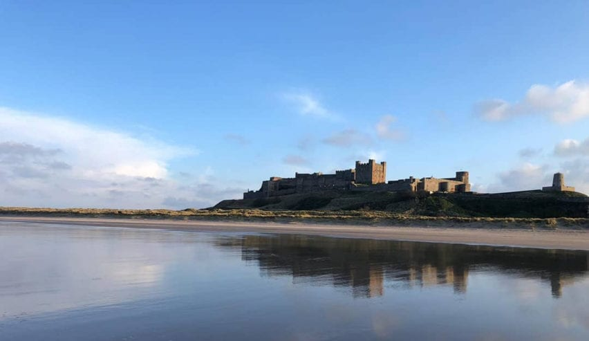 Bamburgh castle close to Joiners Shop Bunkhouse, Northumberland