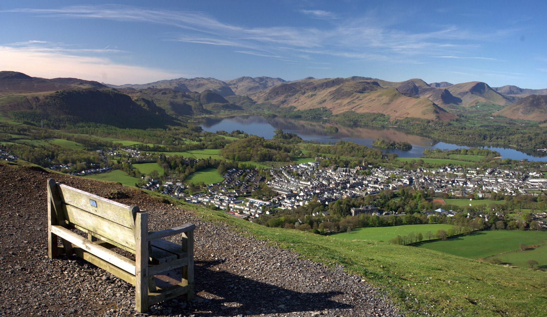 Keswick from Latrigg close to The Tithe Barn at Windebrowe