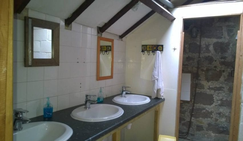 bathroom at Joiners Shop Bunkhouse, Northumberland