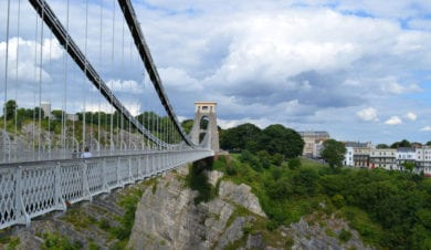 Bristol City Centre suspension bridge
