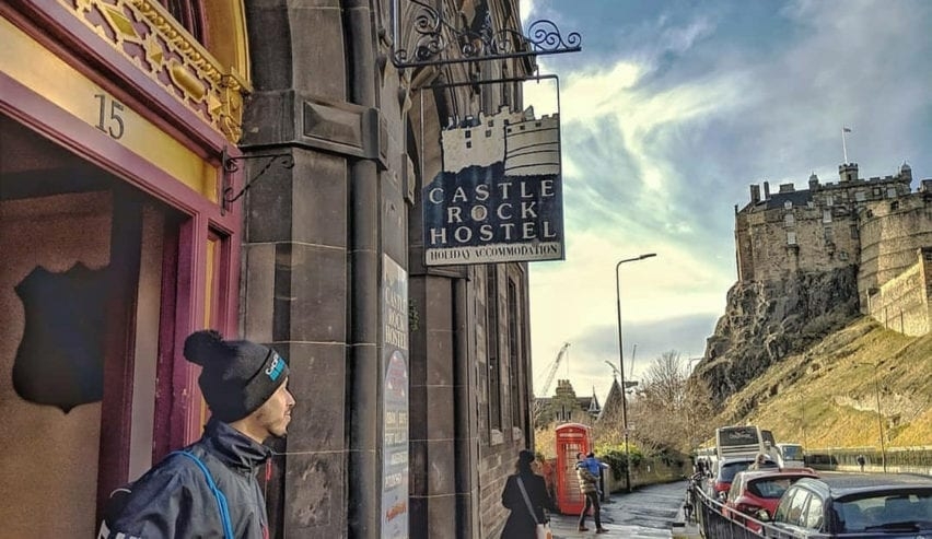 castle rock hostel by Edinburgh castle
