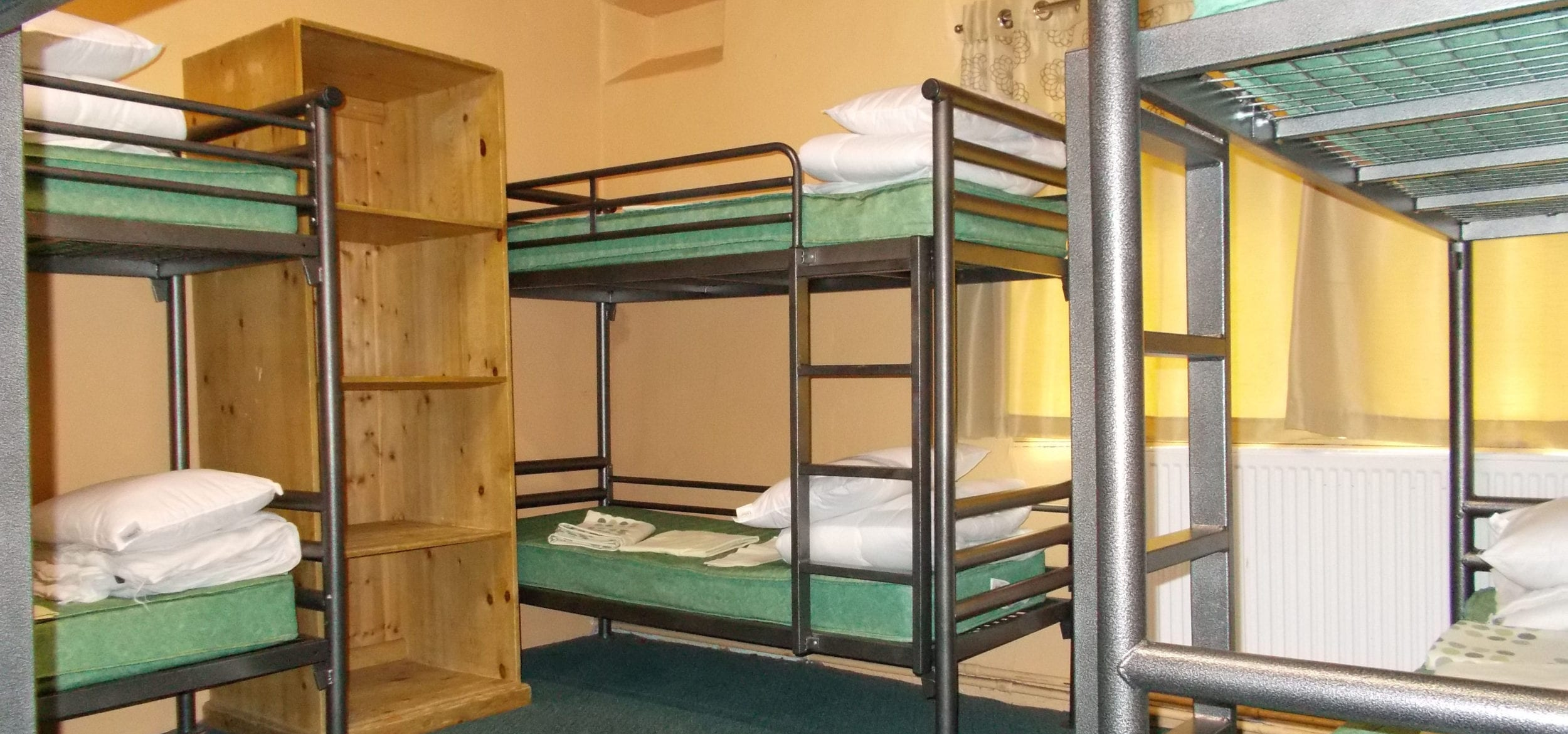 Bunks at Hagg Farm in the Peak District ensure a dry night's sleep for DofE participants
