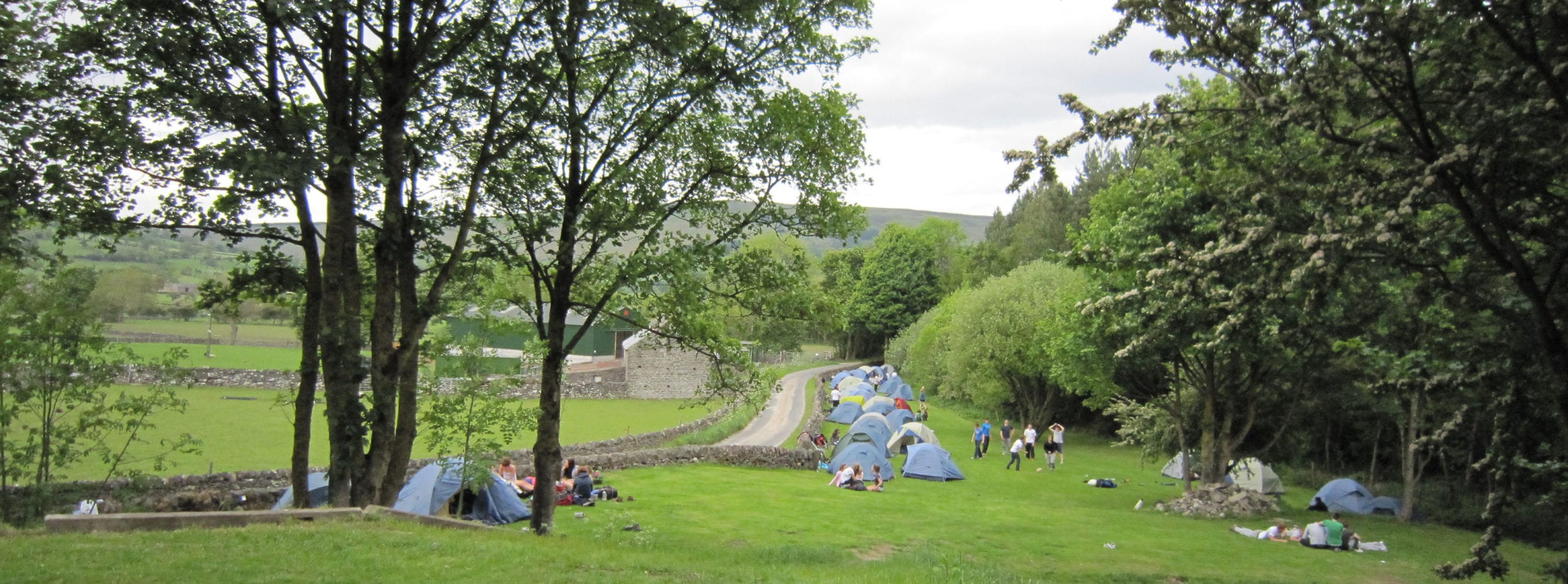 DofE campers enjoying an evening at Pindale Farm in the Peak District