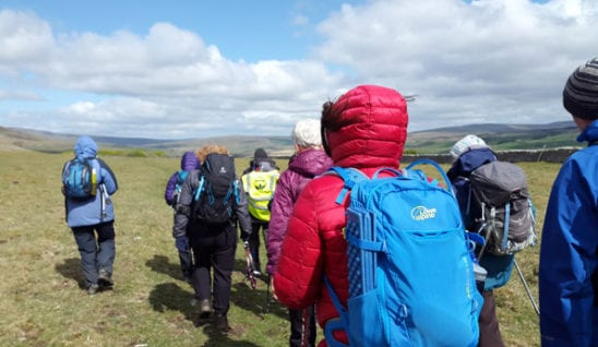 Walkers on the Dales High Way