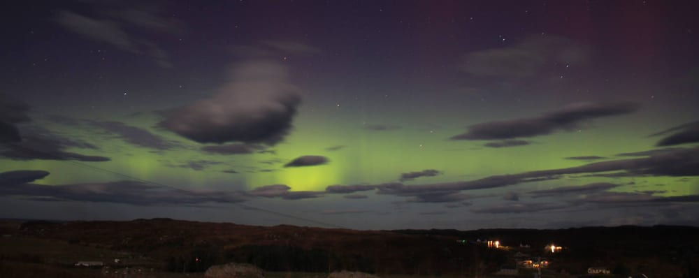 Aurora Borealis on the Isle of Coll, home to Isle of Coll Bunkhouse
