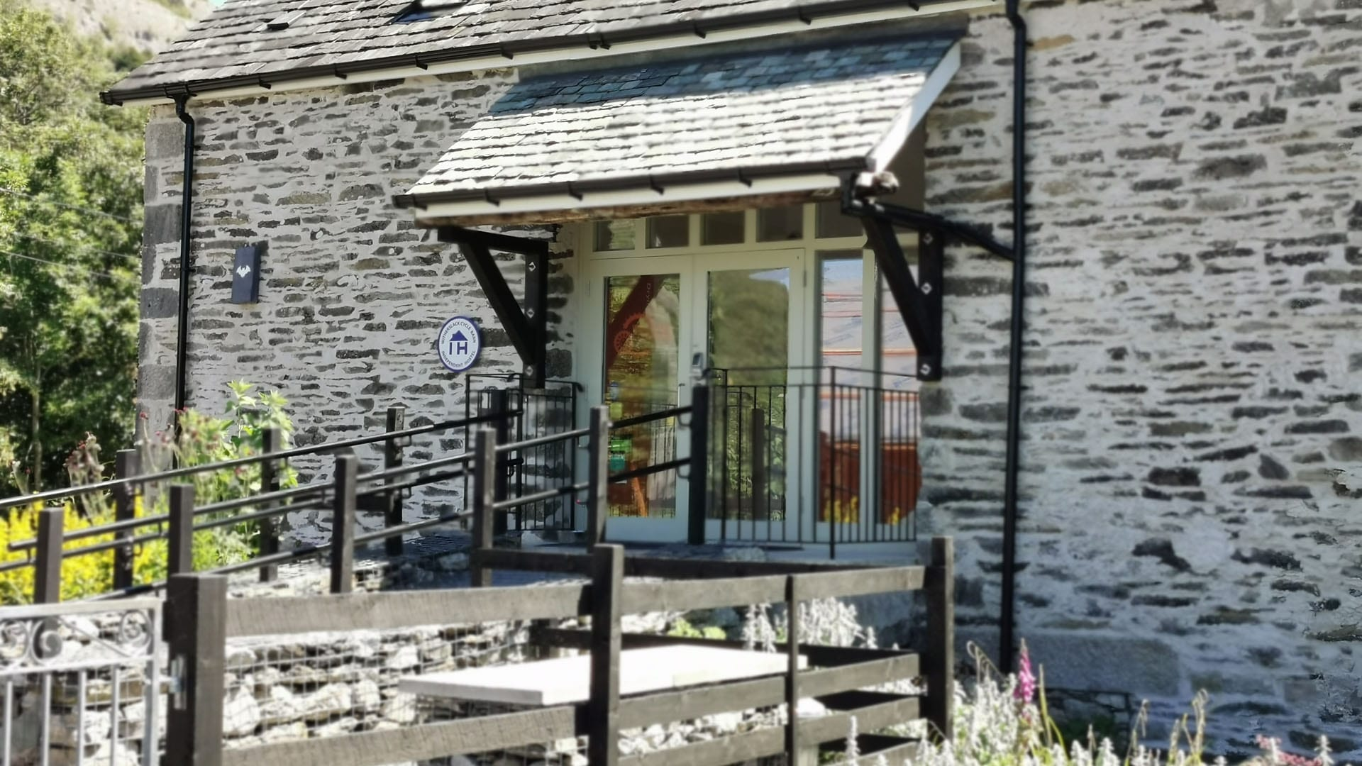 Witherslack Cycle Barn porch