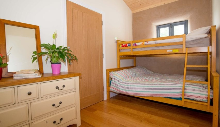 Private rooms at Farm Straw Bale Bunkhouse