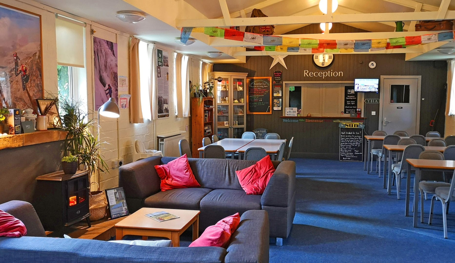 lounge at wooler youth hostel