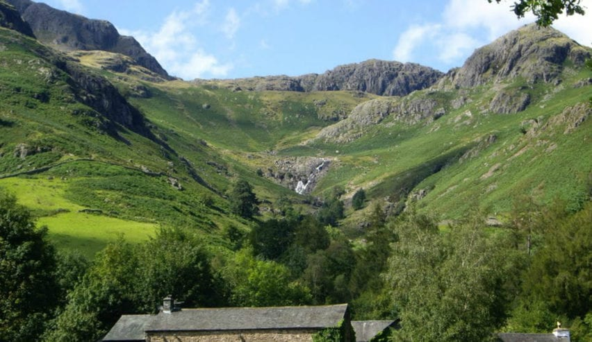 Pub next to Great Langdale Bunkhouse in the Lake District