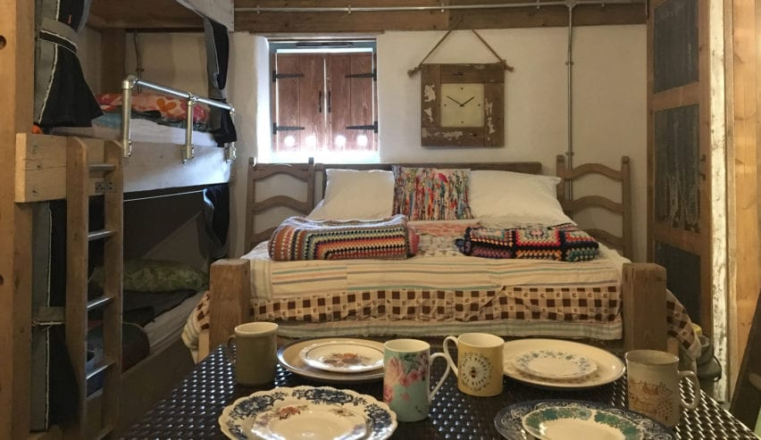 bunks at bed at designate glamping rooms
