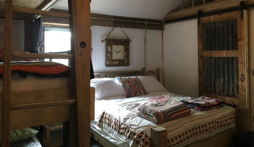 bed at designate glamping rooms