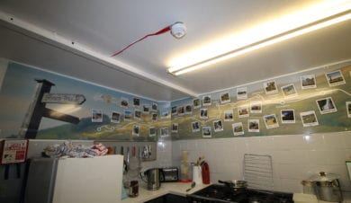 Pennine Way mural at Earby Hostel