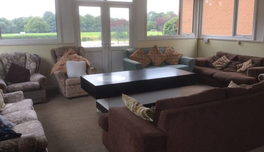 lounge at Gaveston Hall
