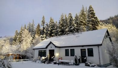 Christmas, New Year, Forest Way Hostel near Ullapool