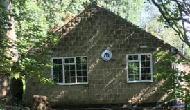 shining cliff youth hostel in the woods