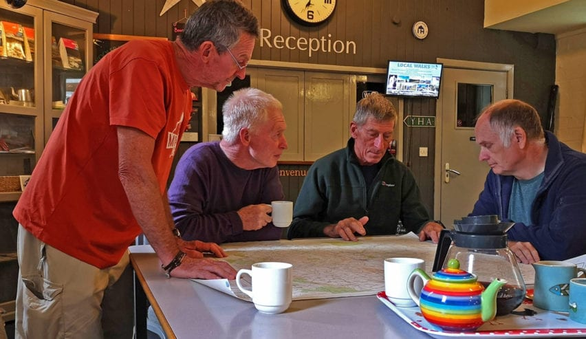 Planing a Route at Wooler Independent Hostel