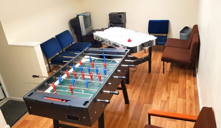 games room at woodland centre Betws-y-Coed