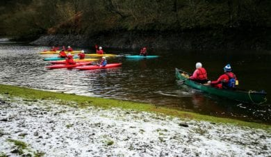 outdoor activivites at Hafren Forest bunkhouse