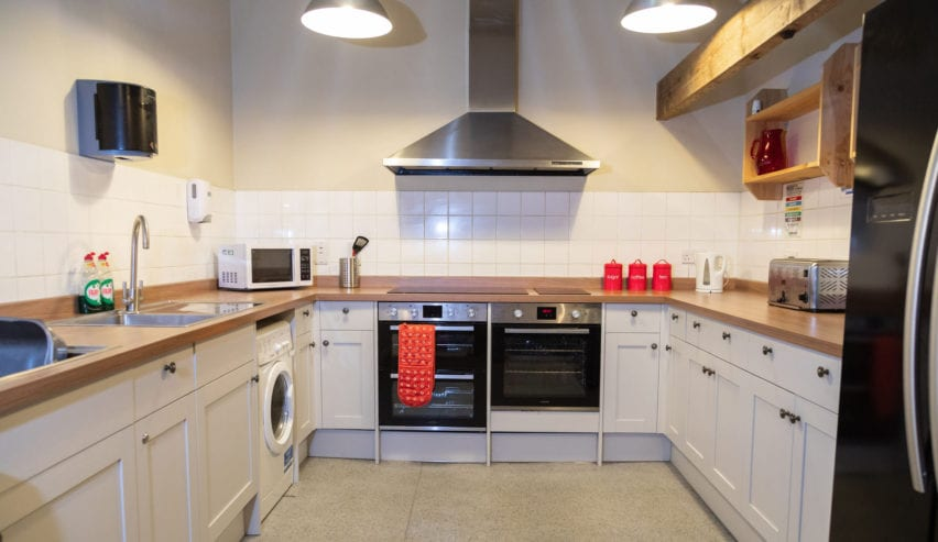 self catering kitchen at Gibside Stables National Trust bunkhouse