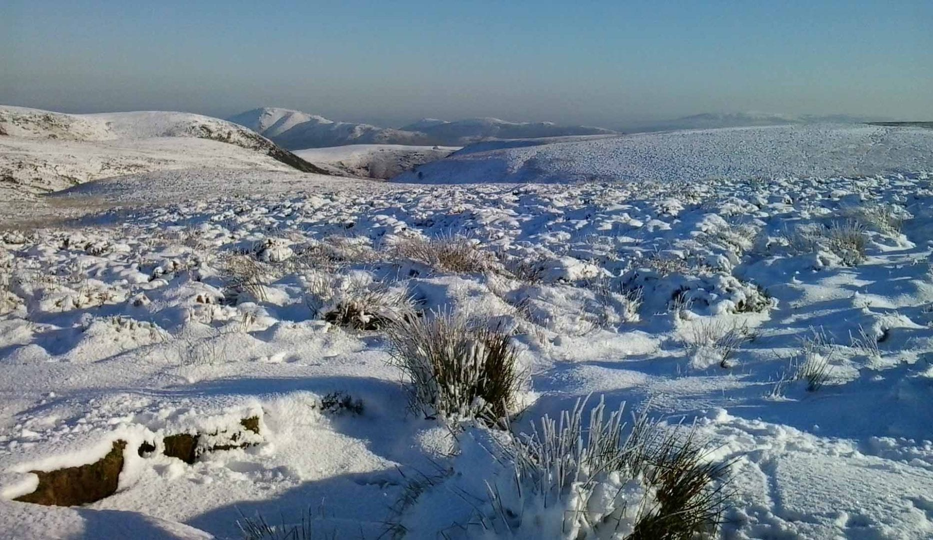 snow on the long mynd near All Stretton