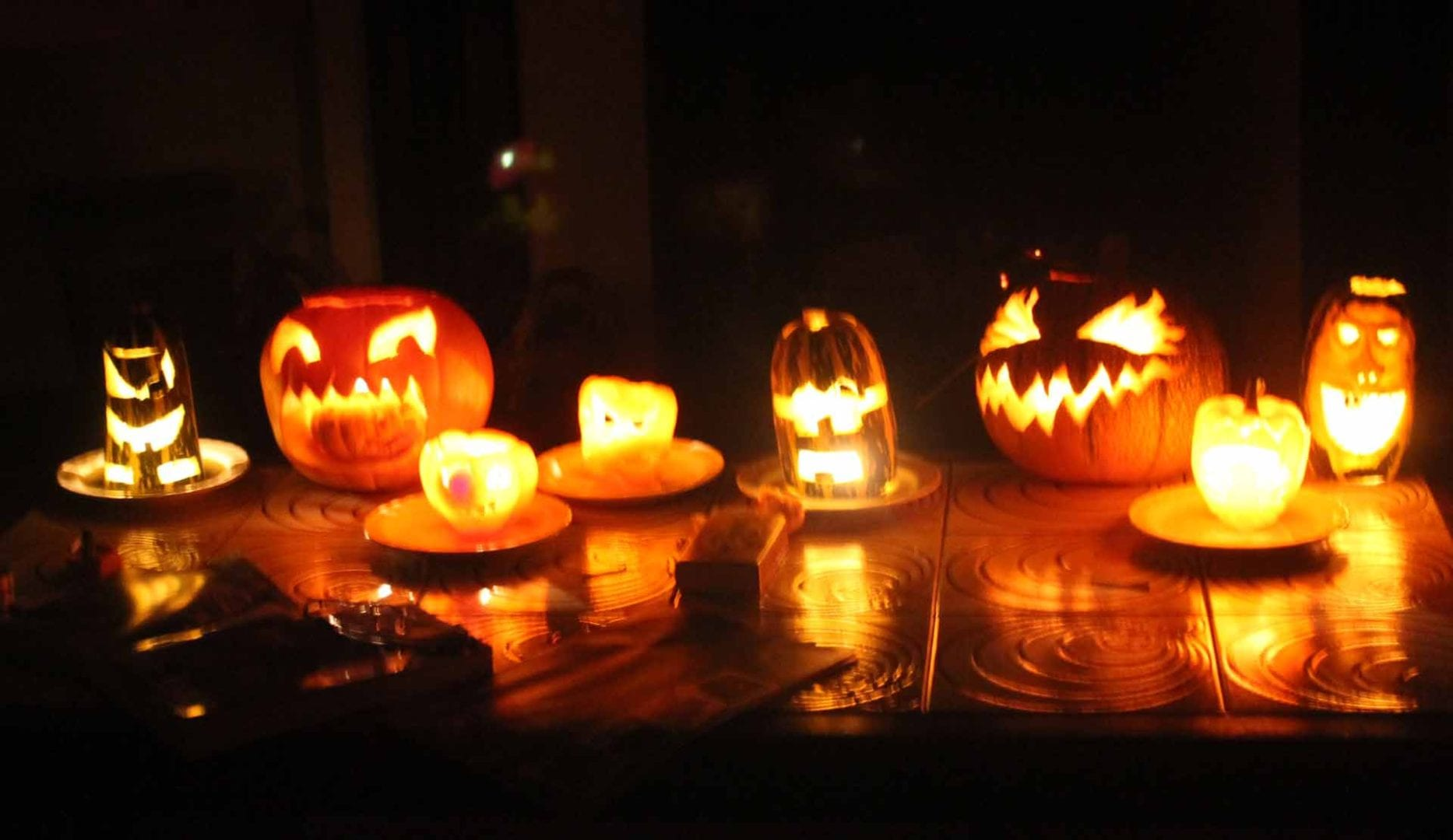Halloween pumpkins at snowdon lodge groups accommodation