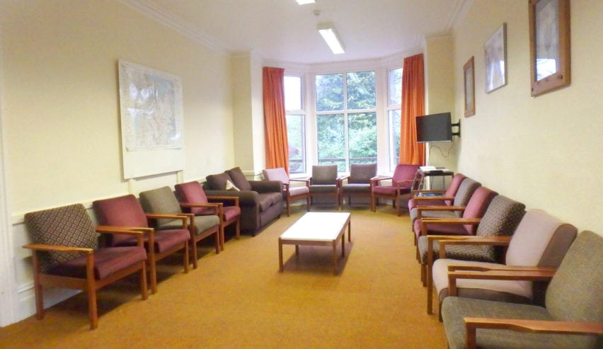 lounge at woodland centre Betws-y-Coed