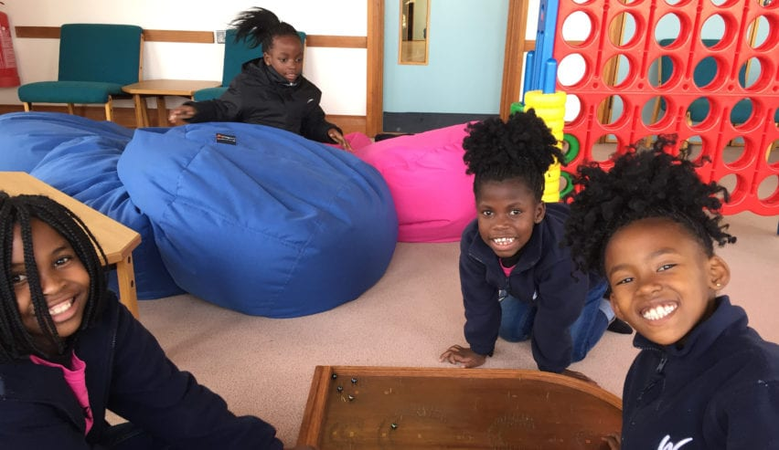 Happy kids at the Chellington Centre