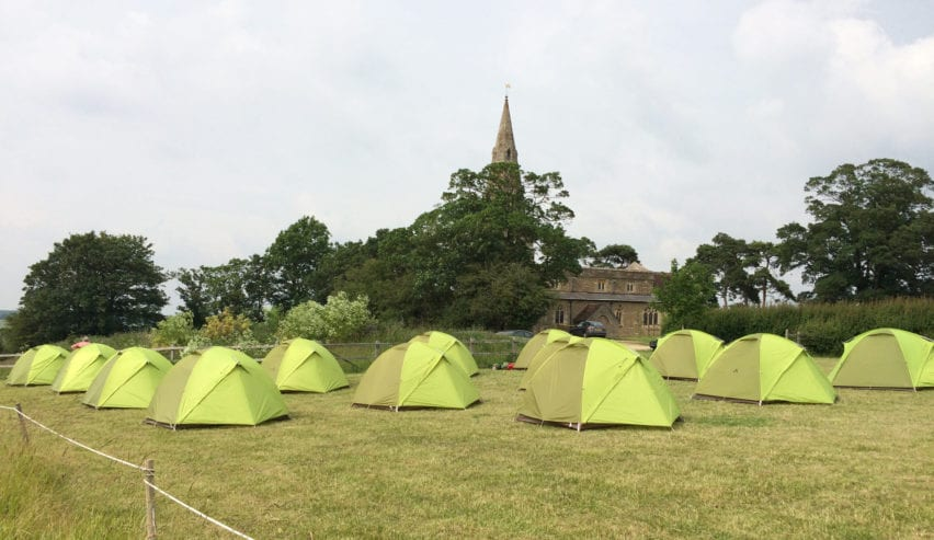 Camping at the Chellington Centre