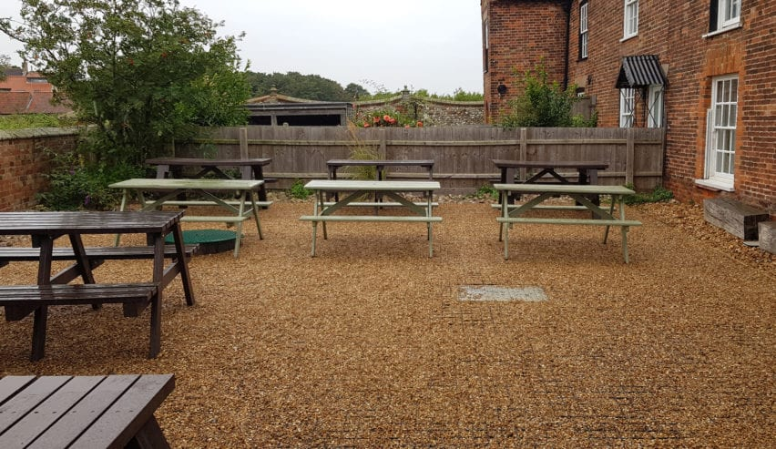refurbished garden at brancaster bunkhouse