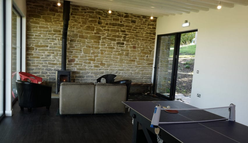 Yoga studio at Bretton Hostel near Eyam