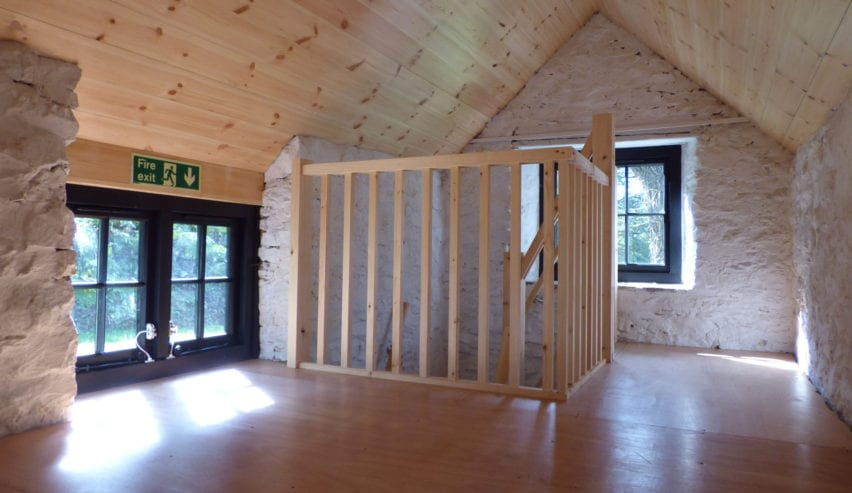 inside the off grid national trust heddon orchard bothy