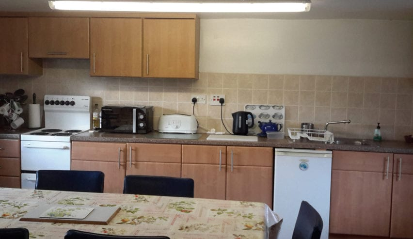 kitchen at brompton on swale bunkhouse