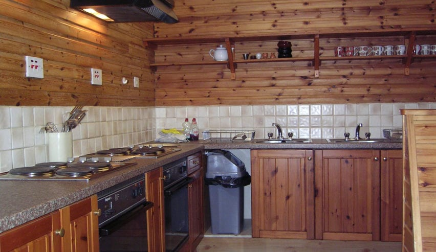 kitchen at Smiddy Bunkhouse in Corpach