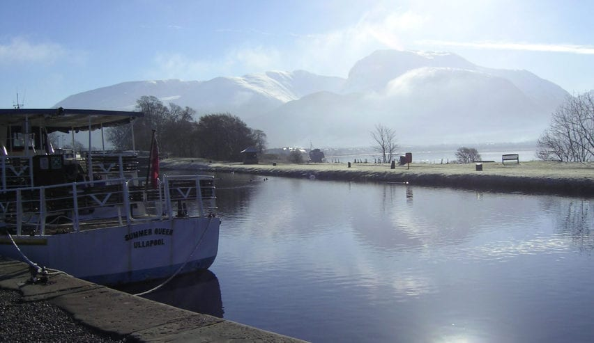 View of Ben Nevis from Corpach